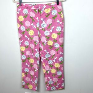 Lilly Pulitzer Pink Colourful Floral Pants Size 4